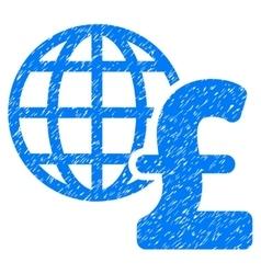 Global pound economics grainy texture icon vector