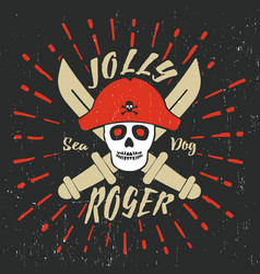 Jolly roger pirate vector