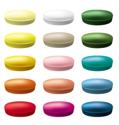 Pills tablets vector image vector image