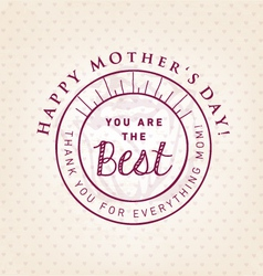 You Are The Best Design Element Greeting Cards vector image vector image