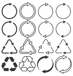 arrows in various type vector image vector image