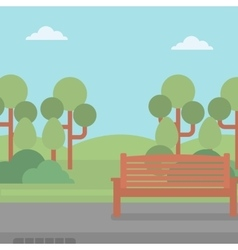 Background of park with bench vector image