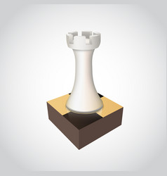 chess rook on board vector image