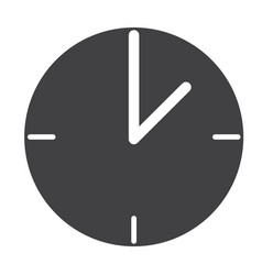 clock web icon flat design style clock sign vector image