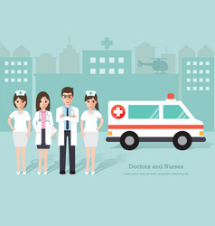 doctors and nurses medical staff vector image vector image