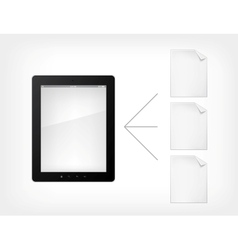 document concept tablet pc vector image
