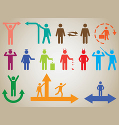 Pictogram people activities vector image