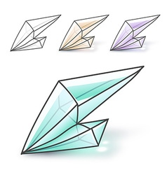 Set 4 fashion brightly colored diamonds hipster vector image vector image