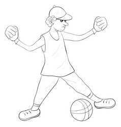a coloring bookpage for children a teenager vector image