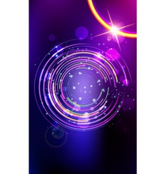 Abstract lens flare background vector