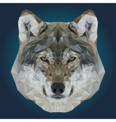 Abstract Low Poly Wolf Design vector