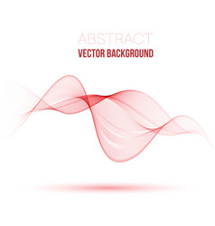 abstract smooth color wave curve flow red vector image