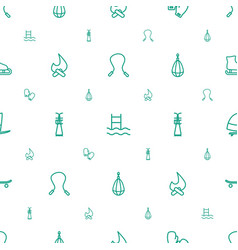 Activity icons pattern seamless white background vector