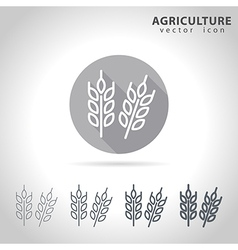 Agriculture outline icon vector