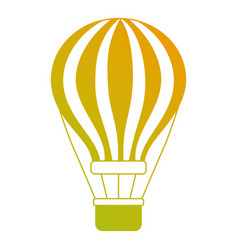 Airballoon with basket recreation adventure vector