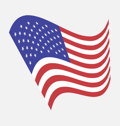 american flag image united vector image