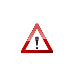 Attention Red Sign Icon on white vector image