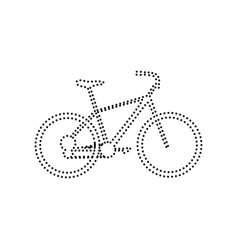 bicycle bike sign black dotted icon on vector image