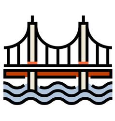 Bridge linecolor vector