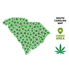 Cannabis mosaic south carolina state map vector
