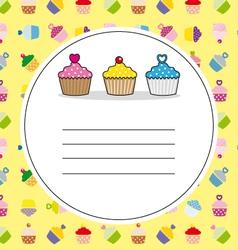 Card cupcakes vector