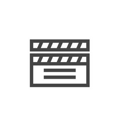 clapperboard graphic design template vector image