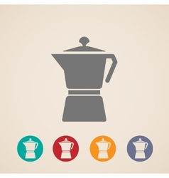 coffee pot icons vector image