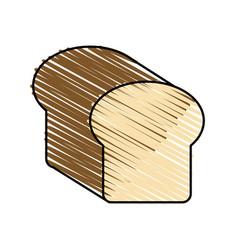 Color crayon stripe full bread foof vector