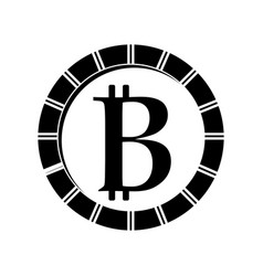 Contour digital bitcoin currency and electronic vector