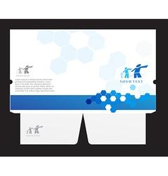 corporate folder vector image