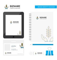 crops in hands business logo tab app diary pvc vector image