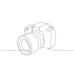 Dslr camera digital one continuous single vector