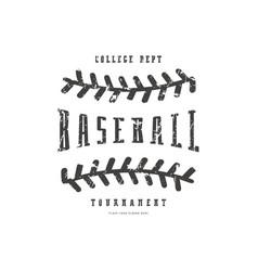 Emblem baseball team vector