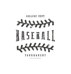 Emblem of baseball team vector