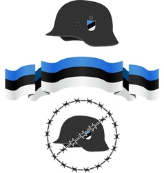 Estonian wsw helmet and flag vector