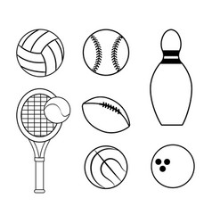 Figure diferents sport games icon vector