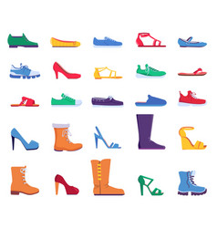 flat shoes fashion footwear for women and men vector image