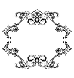 Floral label frame 10 vector