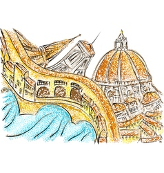 florence italy vector image