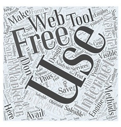 Free internet marketing services Word Cloud vector image