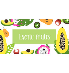 fruits of flat fruit raw vector image