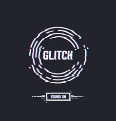 glitch circle vector image