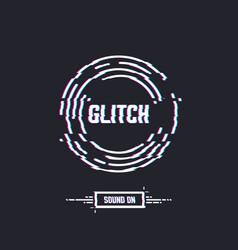Glitch circle vector