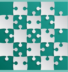 grey puzzle pieces teal - jigsaw field chess vector image