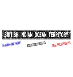 grunge british indian ocean territory scratched vector image