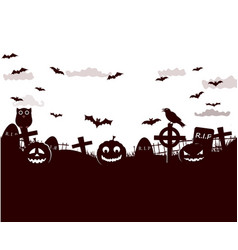 halloween fantastic design poster vector image