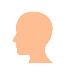 head icon flat design best icon vector image
