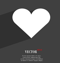 Heart Love icon symbol Flat modern web design with vector