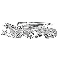 heraldic dragon No13 vector image