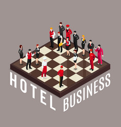 Hotel business chess concept vector